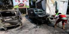 Dua Mobil Terbakar di Pom Bensin