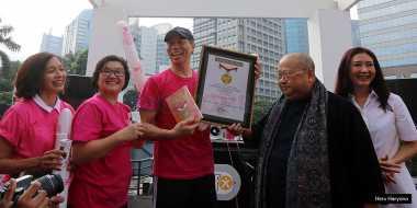 Okezone Heavenly Blush National Yogurt Day Raih Rekor MURI