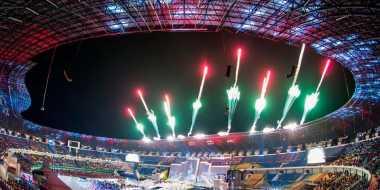 Stadion Gelora Bandung Lautan Api, Tutup PON XIX Jabar dengan Pesta Kembang Api