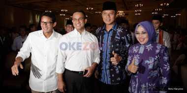 Rapat Pleno Terbuka Dihadiri 2 Pasangan Bakal Cagub-Cawagub DKI