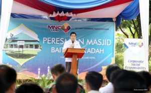 Pukul Bedug, Hary Tanoe Resmikan Masjid Baitus Sya'adah di Lido Sukabumi