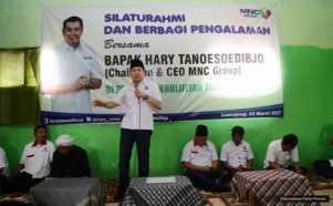 Hary Tanoe Silaturahmi ke Ponpes Al-Kholafiyah Tekung Lumajang