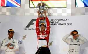 Juarai GP Bahrain Sebastian Vettel Puncaki Klasemen