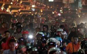 Kepadatan Malam Takbiran di Bogor