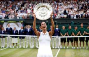 Petenis Spanyol Gabriel Muguruza Raih Gelar Juara Tenis Wimbledon