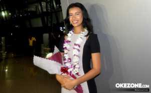 Achintya Nilsen Tiba di Tanah Air Usai Ikuti Ajang Miss World 2017 di China