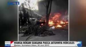 Rekaman Video Detik-Detik Pascajatuhnya Hercules TNI