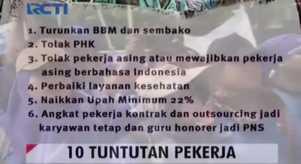10 Tuntutan Buruh