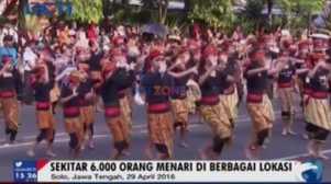 6.000 Orang Meriahkan Hari Tari Sedunia di Solo