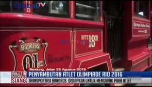 Bus Bandros Disiapkan untuk Mengarak Para Atlet