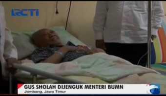 Menteri BUMN Jenguk Gus Sholah