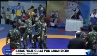 Babak Final Gulat PON Jabar Ricuh