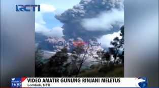 Video Amatir Letusan Gunung Rinjani