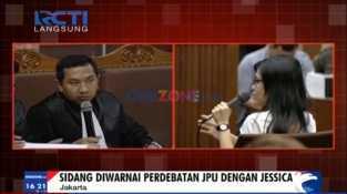 Perdebatan JPU dengan Jessica di Sidang Kopi Sianida