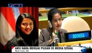 Luar Biasa Aksi Diplomat Cantik Asal Indonesia di Sidang PBB