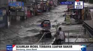 Video Detik-Detik Banjir Besar Terjang Kawasan Pasteur