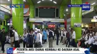 Aksi Damai Berakhir, Umat Padati Stasiun Gambir