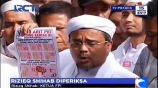 Rizieq Shihab Selesai Jalani Pemeriksaan Terkait Logo 'Palu Arit'