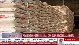 Pemerintah Distribusikan Beras dan Gula dengan Gunakan Kartu