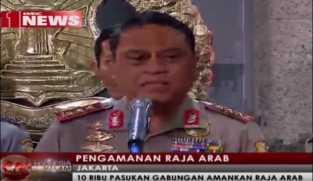 Mabes Polri Siapkan 10.000 Pasukan untuk Pengamanan Raja Salman