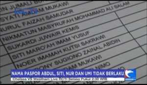 Paspor Haji, Nama Abdul, Abu, Siti, Nur, dan Umi Tidak Berlaku