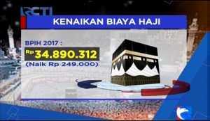 Ongkos Haji Tahun 2017 Naik Rp249.000