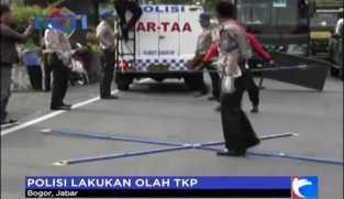 Polisi Lakukan Olah TKP dengan Metode Traffic Accident Analysis di Laka Puncak