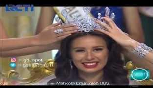 Achintya Holte Nilsen Raih Mahkota Miss Indonesia 2017