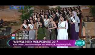 Farewell Party Miss Indonesia 2017
