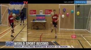Mantab! Bocah 13 Tahun Ini Pecahkan Rekor Jugling Maraton