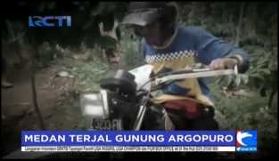 Pecinta Motor Trail Tua Jajal Jalur Gunung Argopuro