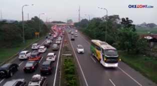 H-3 Lebaran, Gerbang Exit Tol Cileunyi Dipadati Pemudik