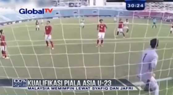 Timnas Indonesia Takluk 0-3 dari Malaysia di Kualifikasi Piala Asia U-23