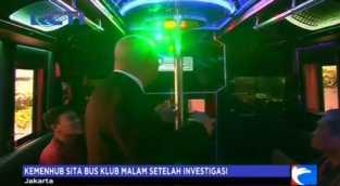 Berikan Jasa Pesta Klub Malam, Bus Ini Diamankan Petugas