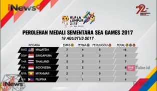 Indonesia Tambah Torehan Mendali di Sea Games 2017