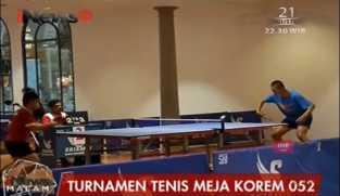 Peringati HUT RI ke-72, Korem 052 Tangerang Gelar Turnamen Tenis Meja