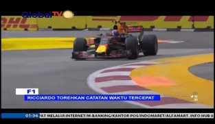 Ricciardo Torehkan Catatan Waktu Tercepat di Singapura