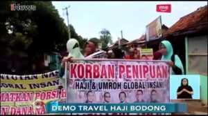 Ratusan Calon Jamaah Haji Geruduk Kantor Global Insani