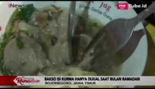 Lezatnya Bakso Isi Kurma, Menu Spesial Ramadan di Bojonegoro
