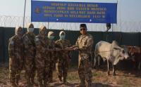 Satgas TNI Konga XXXIX-B RDB MONUSCO Berbagi Daging Kurban di Daerah Misi Republik Kongo