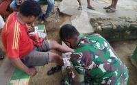 Kesigapan Tim Kesehatan Satgas Pamtas RI-PNG Yonif Mekanis Raider 413 Kostrad