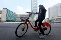 Layanan Bike Sharing Mempermudah Masyarakat untuk Bersepeda Keliling Ibu Kota