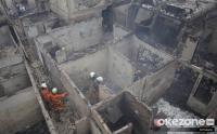 Proses Pendinginan Lokasi Kebakaran Pemukiman Warga Tambora