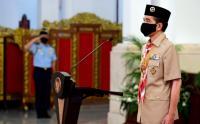 Presiden Jokowi Pimpin Upacara Hari Pramuka ke-59 di Istana Negara