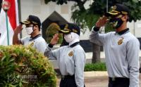 Intip Persiapan Upacara HUT Kemerdekaan RI ke-75 di Kantor Wali Kota Jakpus