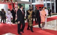 Presiden Jokowi Disambut Puan, Bamsoet dan La Nyala Matalitti