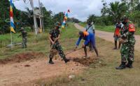 Jalan Kampung Bupul di Papua Dipercantik