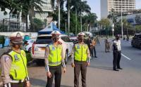 Operasi Yustisi Protokol Covid-19 di Bundaran Hotel Indonesia