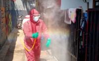 Kota Bambu Utara Disemprot Disinfektan