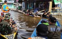 Kondisi Banjir di Kabupaten Kapuas Hulu Berangsur Surut